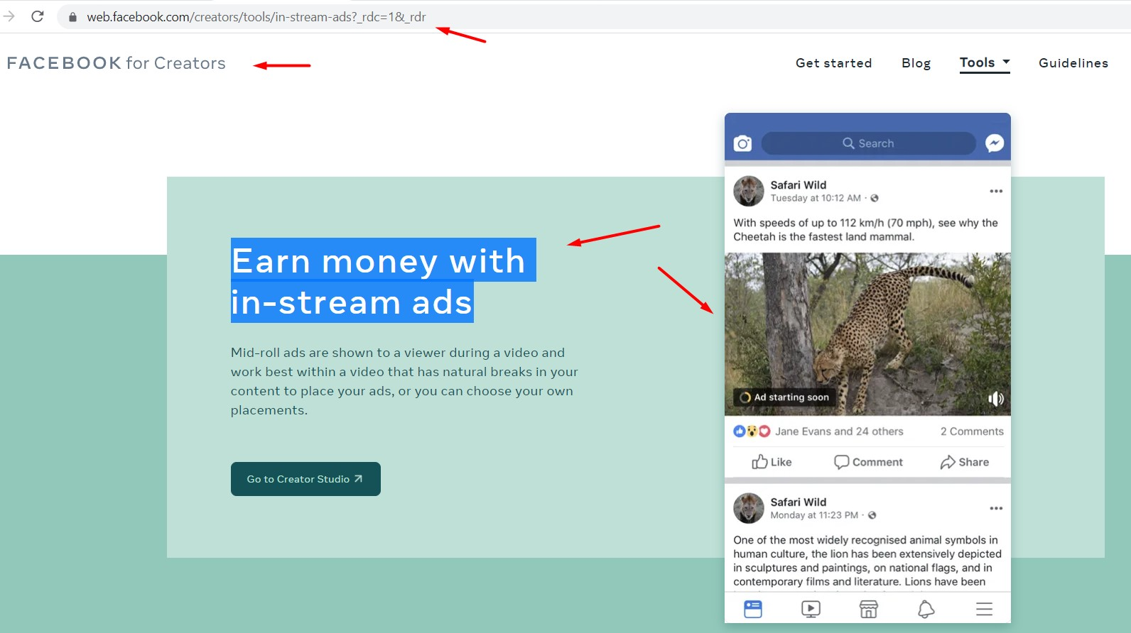 how to make Earn money with in-stream ads